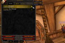 AuldLangSyne 1.12.1: аддон для заметок в окне друзей и черном списке