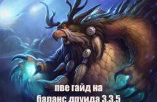 ПВЕ гайд на баланс друида 3.3.5 — полное руководство по игре за сову
