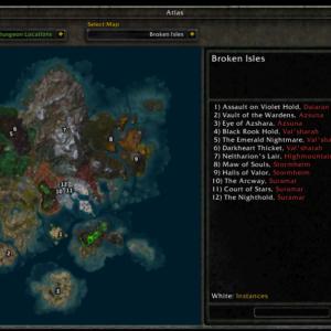 Atlas Dungeon Locations