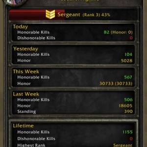 HonorSpy: аддон для отслеживания пвп ранга