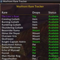 Warfront Rare Tracker
