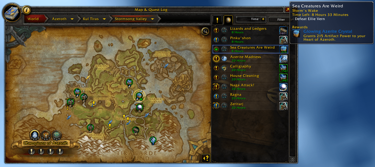 World Quest Tab